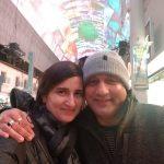 Deepika Kaliraman Choudhary with husband
