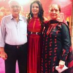 Raveena Tandon with her Parents