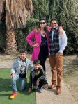 Sonika Kaliraman with husband Siddharth Malik and children