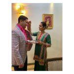 Esha Gupta with brother Rishab Gupta