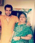 Rohit Sharma with mother Purnima Sharma