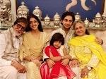 Amitabh Bachchan Jaya Bachchan with grandchildren