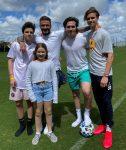 David Beckham with his children