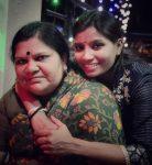 Rajeshwari Gayakwad with mother Savithri Gayakwad