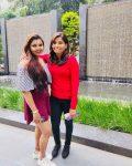 Rajeshwari Gayakwad with sister Rameshwari Gayakwad