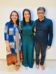 Smriti Mandhana with parents